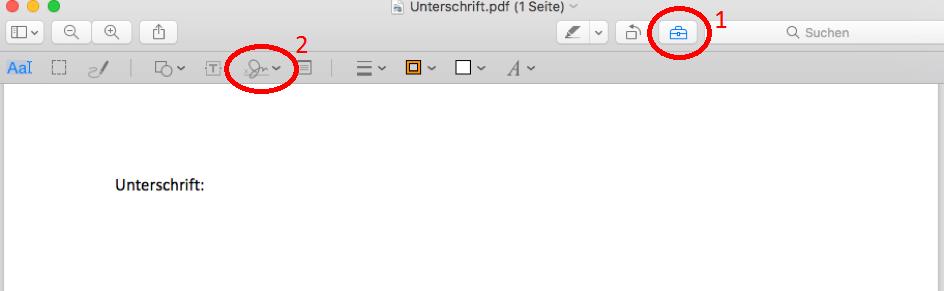 unterschreiben bei pdf
