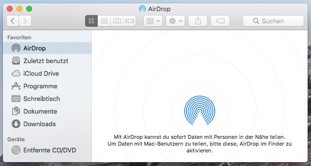 Airdrop kontakte nicht sichtbar