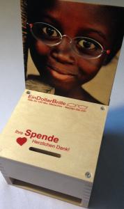 Immer dabei - die Spendenbox