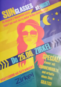 Unsere erste Benefiz-Party - Sunglasses At Night