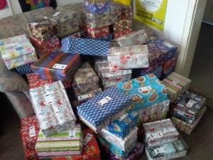 Einige der vielen Päckchen des letzten Jahres.