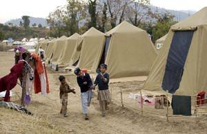 Flüchtlingslager in Shinkiari, Pakistan