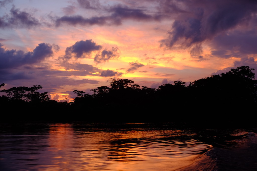 Sonnenuntergang am Río San Juan