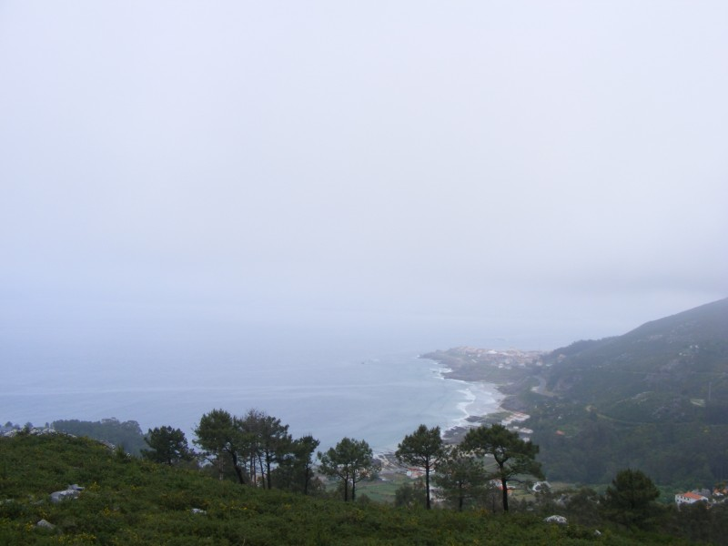Nebel am Meer in Spanien