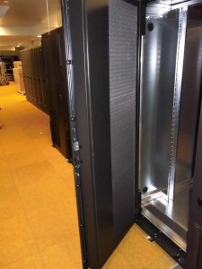 """Cool door"" of the new water cooled racks of the ""Emmy"" cluster."