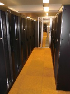 """Eleven new water cooled racks of the """"Emmy"""" cluster."""